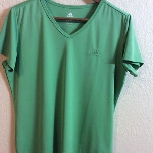 Adidas Green Short Sleeves Tee Size L